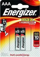 Элемент питания LR03 AAA Energizer MAX  Alkaline 2 штуки в блистере