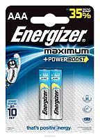 Элемент питания LR03 AAA Energizer MAXIMUM  Alkaline 2 штуки в блистере