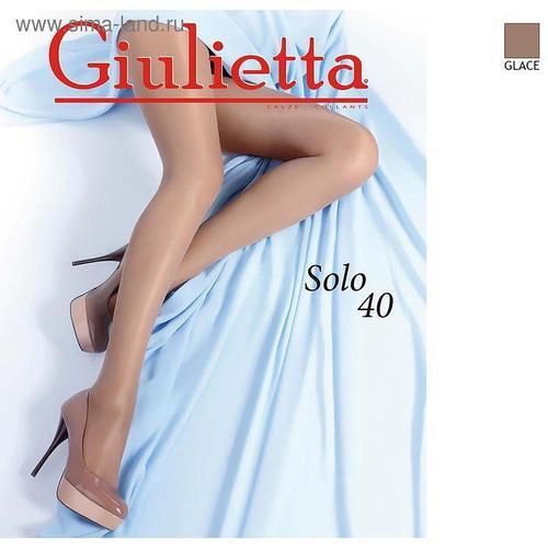 Колготки женские Giulietta SOLO 40 ден цвет бронзовый загар (glace), размер 4