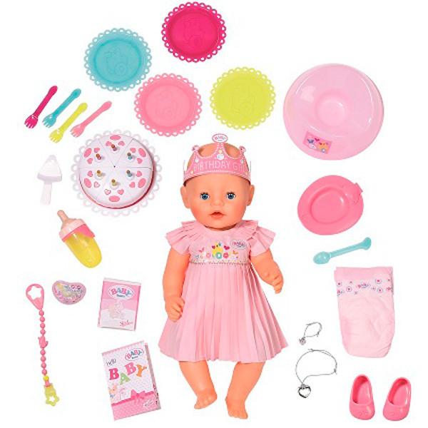 Baby born Бэби Борн Кукла Интерактивная Нарядная с тортом, 43 см Zapf Creation