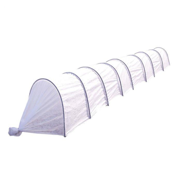 Парник «Ленивый», длина 8,5 м , 9 дуг, укрывной материал 42 г/м2