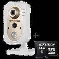 Компактная внутренняя IP видеокамера 1080p с Wi-Fi модулем, ИК подсветкой и мегапиксельным NOVIcam PRO NC34FP