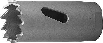 """(29531-022_z01) Коронка ЗУБР """"ЭКСПЕРТ"""" биметаллическая, 22 мм, глубина сверления до 38 мм."""