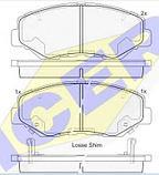 Тормозные колодки ICER 181558(REMSA 899.00), фото 2
