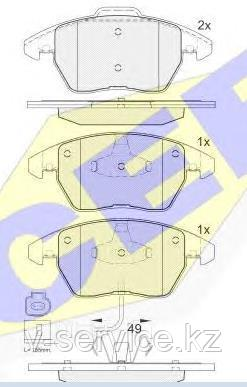 Тормозные колодки ICER 181567(REMSA 1030.01)