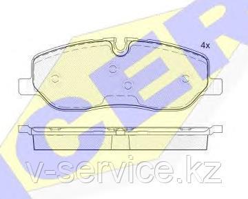Тормозные колодки ICER 181660-700(REMSA 1158.00)