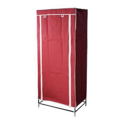 Шкаф тканевый для одежды бордовый