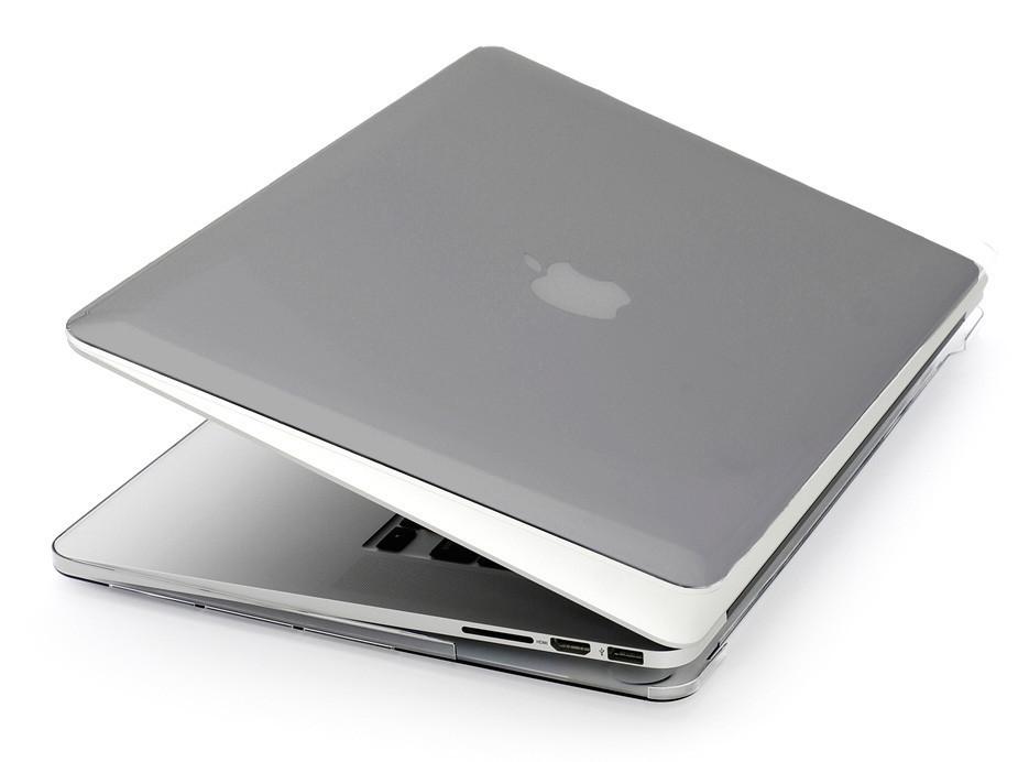 Глянцевый пластиковый чехол для MacBook Pro 15'' 2017 A1707 (серый)