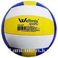 Мяч волейбольный Wellmix Sports окружность 66.5 см 2