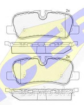 Тормозные колодки ICER 181661(REMSA 1159.00)