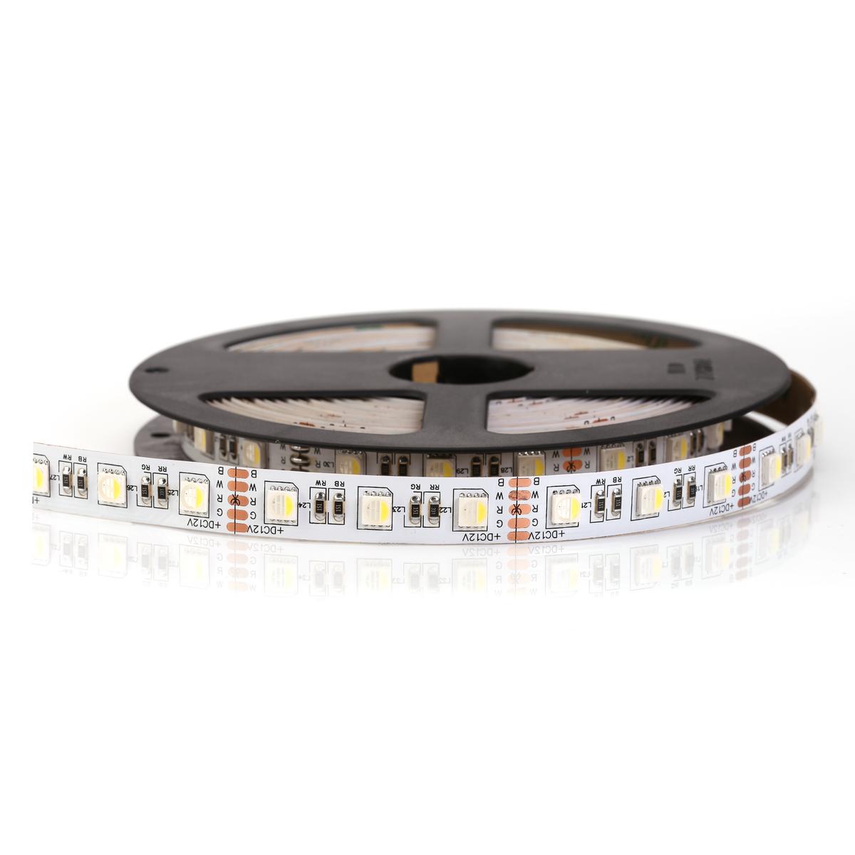 Светодиодная лента RGB+W SMD 5050 IP33 12V 60д/м, негерметичная