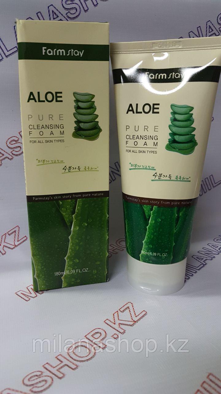 Farm Stay Aloe Pure Cleasing (Пенка для умывания с алое)