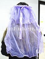 Фата с ободком на девичник фиолетовая