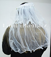 Фата с ободком на девичник белая