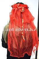 Фата с ободком на девичник красная