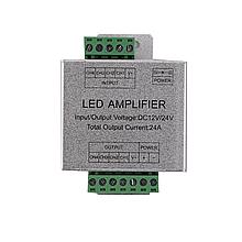 Усилитель RGB+W сигнала (репитер) 288W(24A), 12V