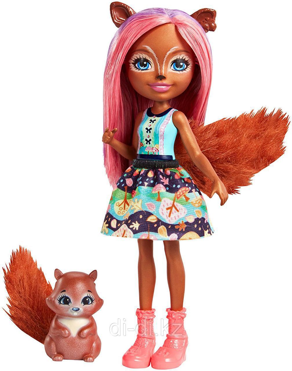 Mattel Enchantimals Игровая Кукла Санча Белка, 15 см