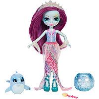 """Кукла """"Энчантималс: Морские подружки"""" - Дольче Дельфина с питомцем, 15 см, фото 1"""