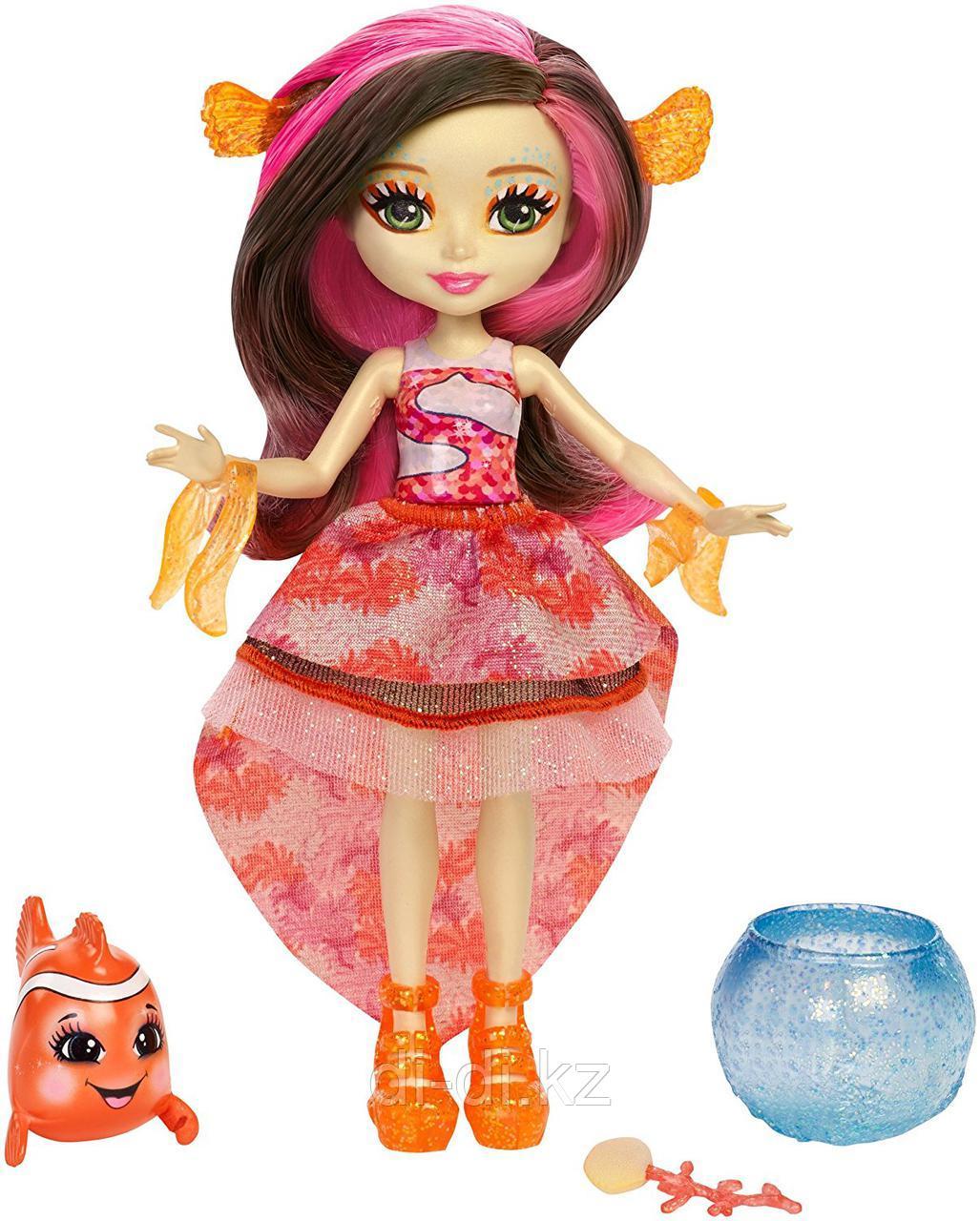 """Кукла """"Энчантималс: Морские подружки"""" - Кларита с питомцем, 15 см"""