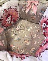 """Комплект в кроватку """"Акварель"""" 11 предметов  (для круглой-овальной кроватки)"""