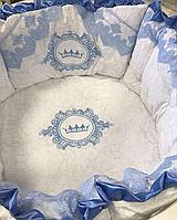 """Комплект в кроватку """"Маркиз"""" 11 предметов  (для круглой-овальной кроватки)"""