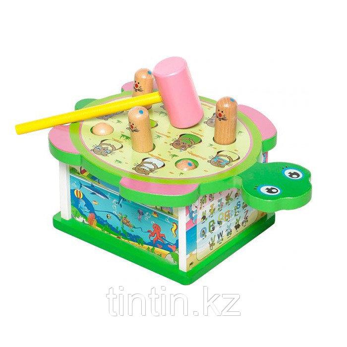 Деревянная игрушка стучалка - Черепашка