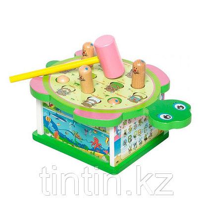 Деревянная игрушка стучалка - Черепашка, фото 2