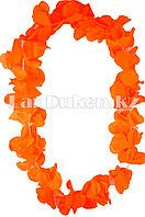 Гавайские бусы Леи из оранжевых цветов (диаметр по окружности 44-50 см)