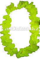 Гавайские бусы Леи из желтых цветов (диаметр по окружности 44-50 см)