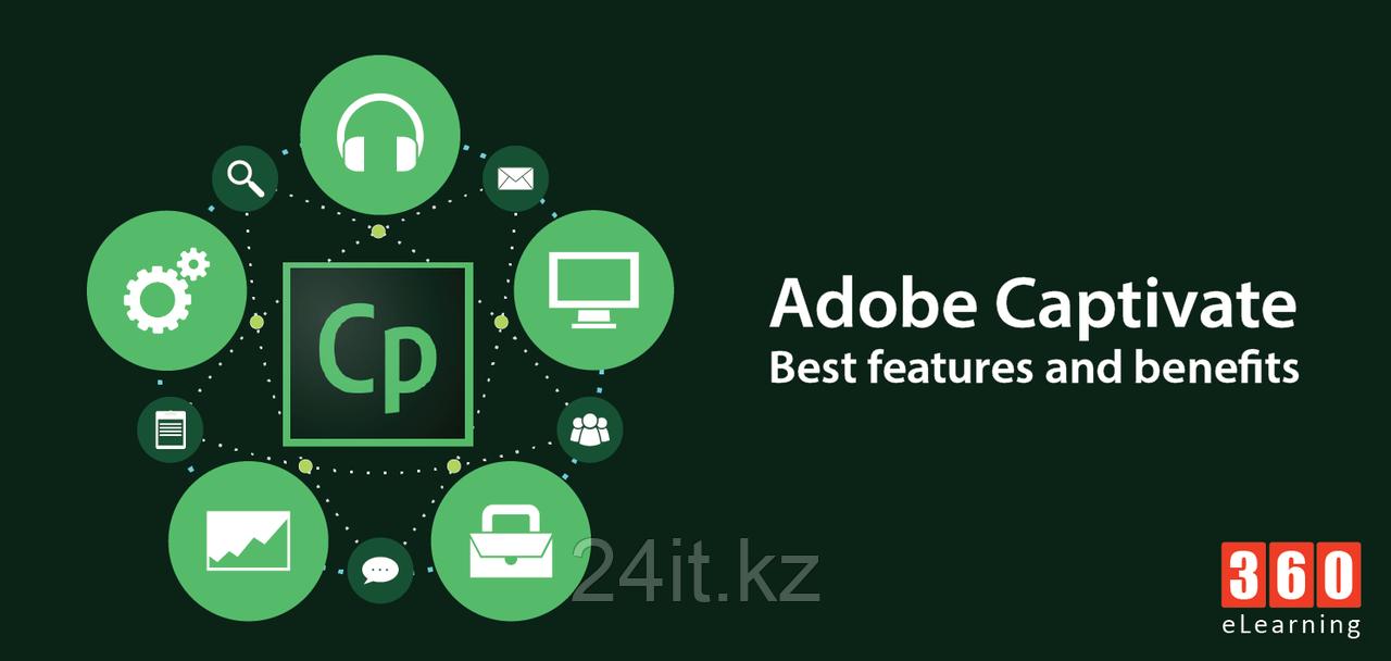Adobe Captivate Creative Cloud for Teams Multiple Platforms Multi European Languages New Subscription 12 month