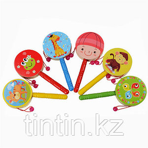 Детский деревянный барабан 16х7,5х2см