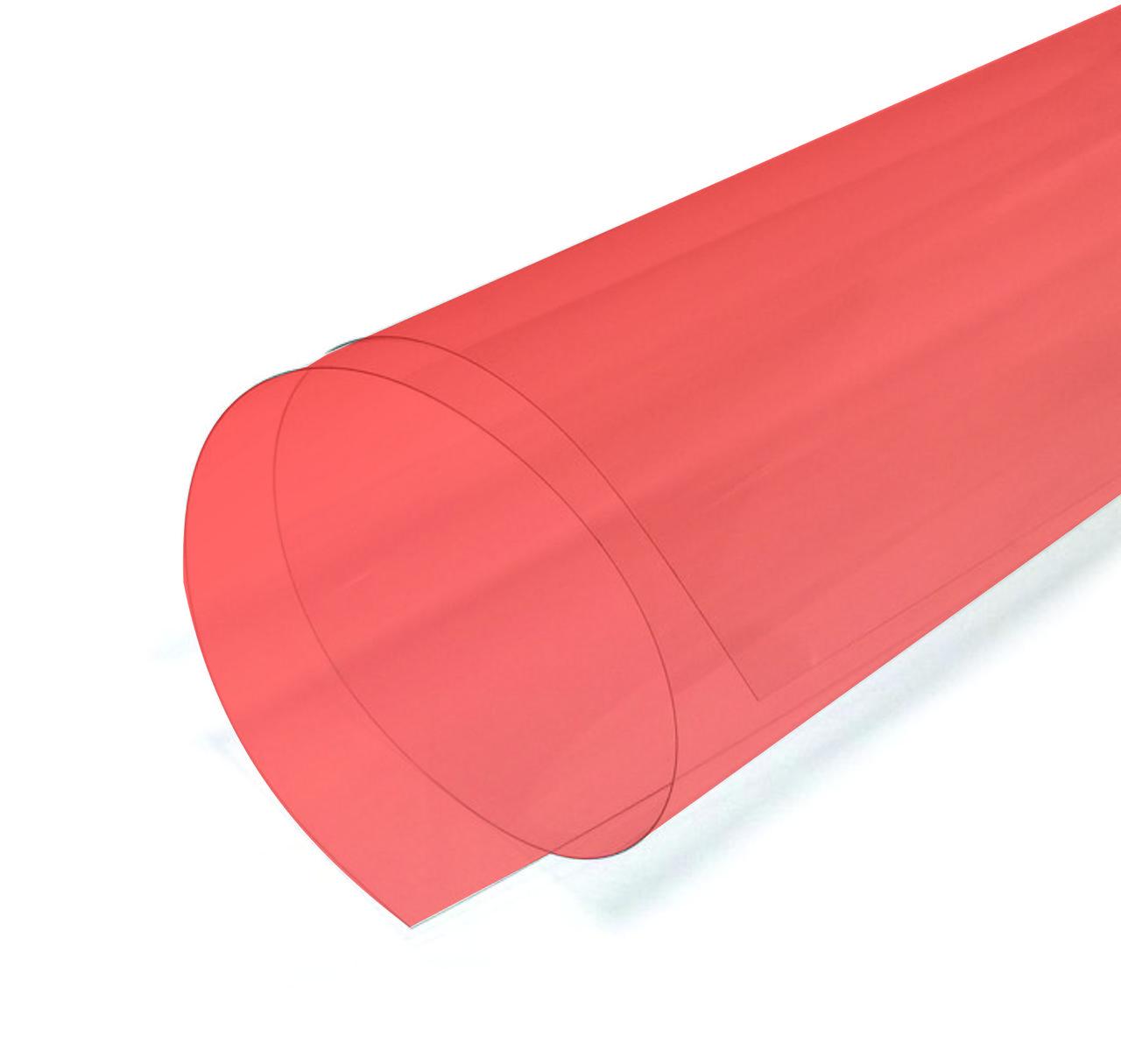 PVC листовой красный 2мм (1,22м х 2,44м)