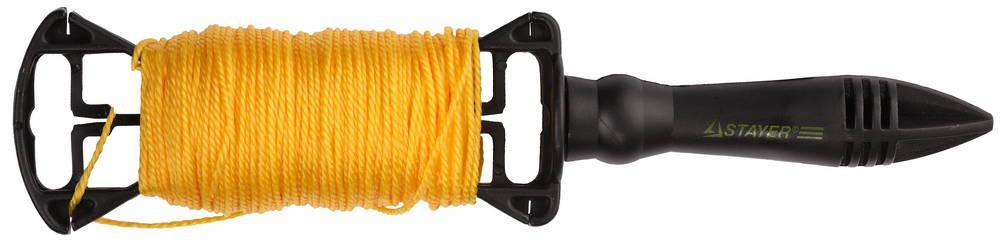 (2-06411-100) Шнур STAYER для строительных работ, на катушке, 100м