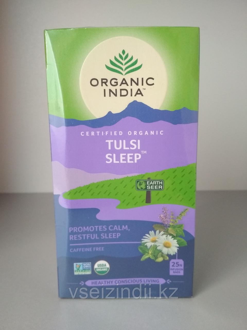 Чай Тулси Сон, Органик Индия / Tulsi Sleep, Organic India, 25 пакетиков