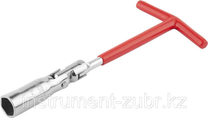 Ключ свечной DEXX с шарниром, 16мм                                                                                                                    , фото 2