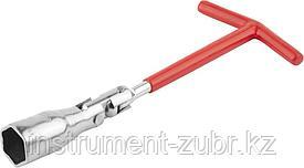 Ключ свечной DEXX с шарниром, 21мм