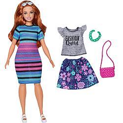 """Barbie """"Игра с модой"""" Кукла Барби в платье в полоску #84 (Пышная)"""