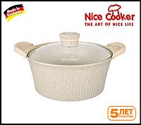 Кастрюля-казан с каменным покрытием, Nice Cooker, Alfetta Series, 24 см, 4 литра