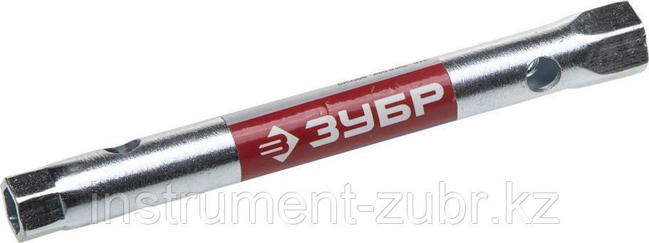 """Ключ торцовый ЗУБР """"МАСТЕР"""", трубчатый двухсторонний, прямой, 8х10мм                                                                                  , фото 2"""