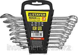 Набор комбинированных гаечных ключей 8 шт, 8 - 19 мм, STAYER