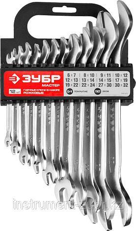 Набор рожковых гаечных ключей 12 шт, 6 - 32 мм, ЗУБР, фото 2