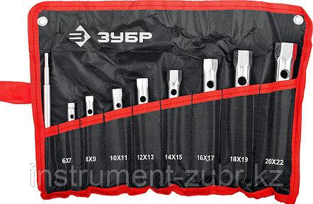 """Набор ЗУБР """"МАСТЕР"""": Ключи торцовые, трубчатые двухсторонние, 6-22мм, с воротком, 9шт                                                                 , фото 2"""