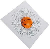 Наклейка на автомобиль Разбитое Стекло Баскетбольный мяч
