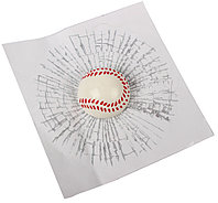 Наклейка на автомобиль Разбитое Стекло Бейсбольный мяч