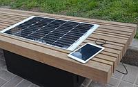 Скамейки уличные на солнечных батареях
