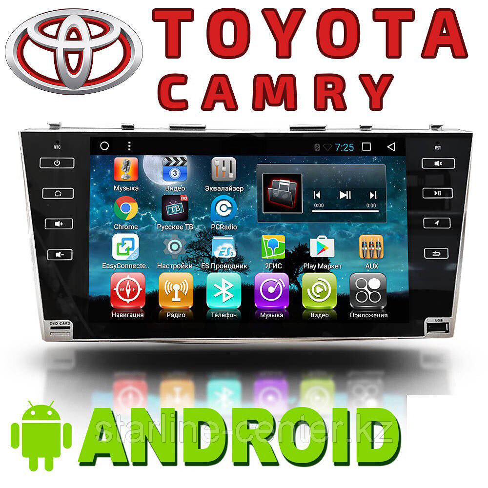 Автомагнитола AutoLine Toyota Camry с (2006-2011).Android.