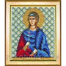 Набор для вышивки бисером Чарівна Мить Б-1162 Икона святая мученица Христина