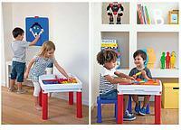 Столик KETER 3в1 для игр с конструктором + 2 табуретки, фото 1