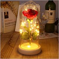 Роза под куполом с подсветкой
