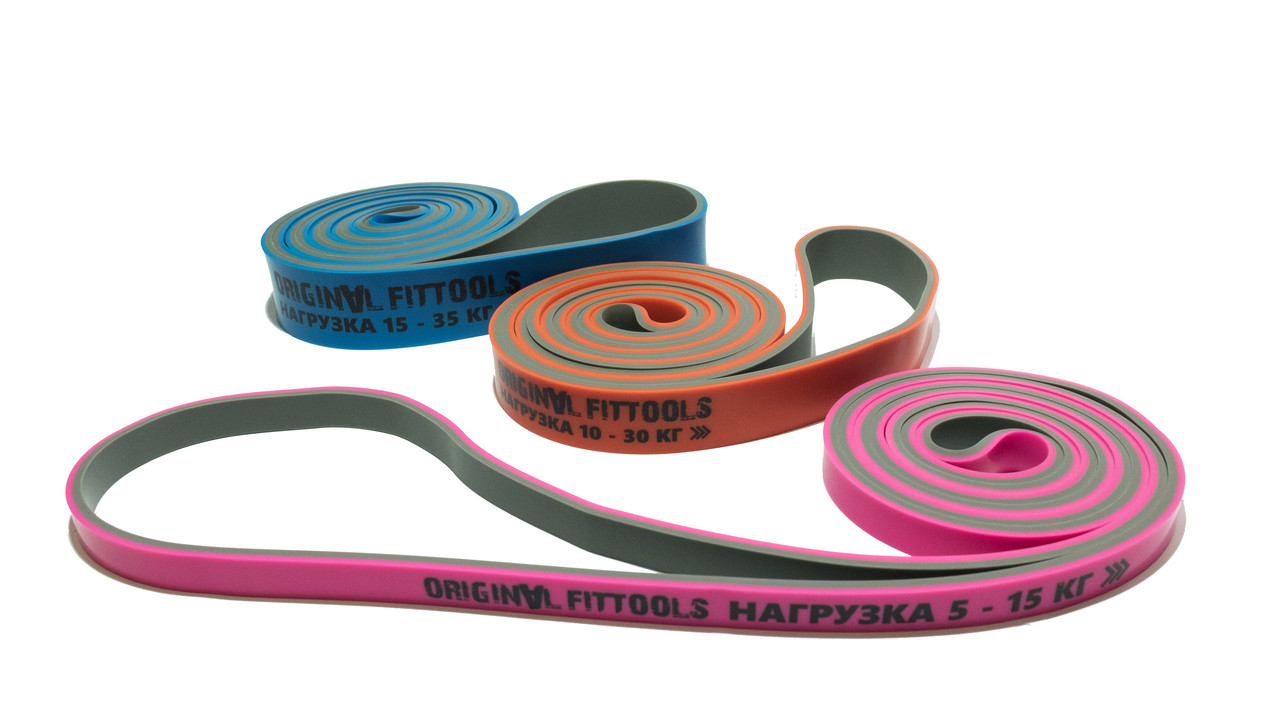 Эспандер-петля двуцветный 10-30 кг - фото 2